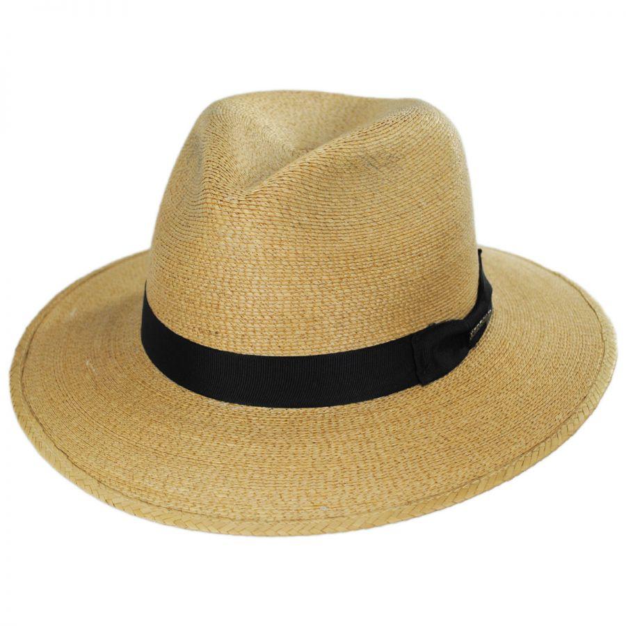 24278f3330e Stetson Trailhead Palm Straw Fedora Hat Straw Fedoras