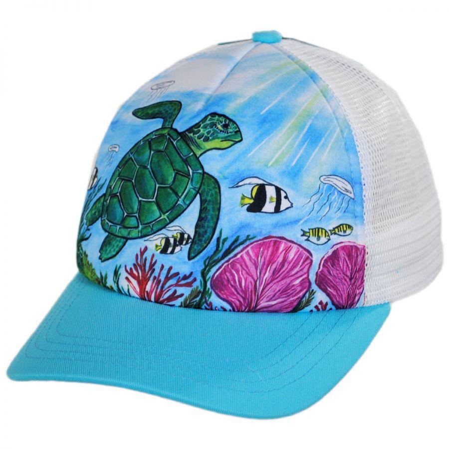 f4ff1c6400b77 Sunday Afternoons Child s Sea Turtle Trucker Snapback Baseball Cap ...