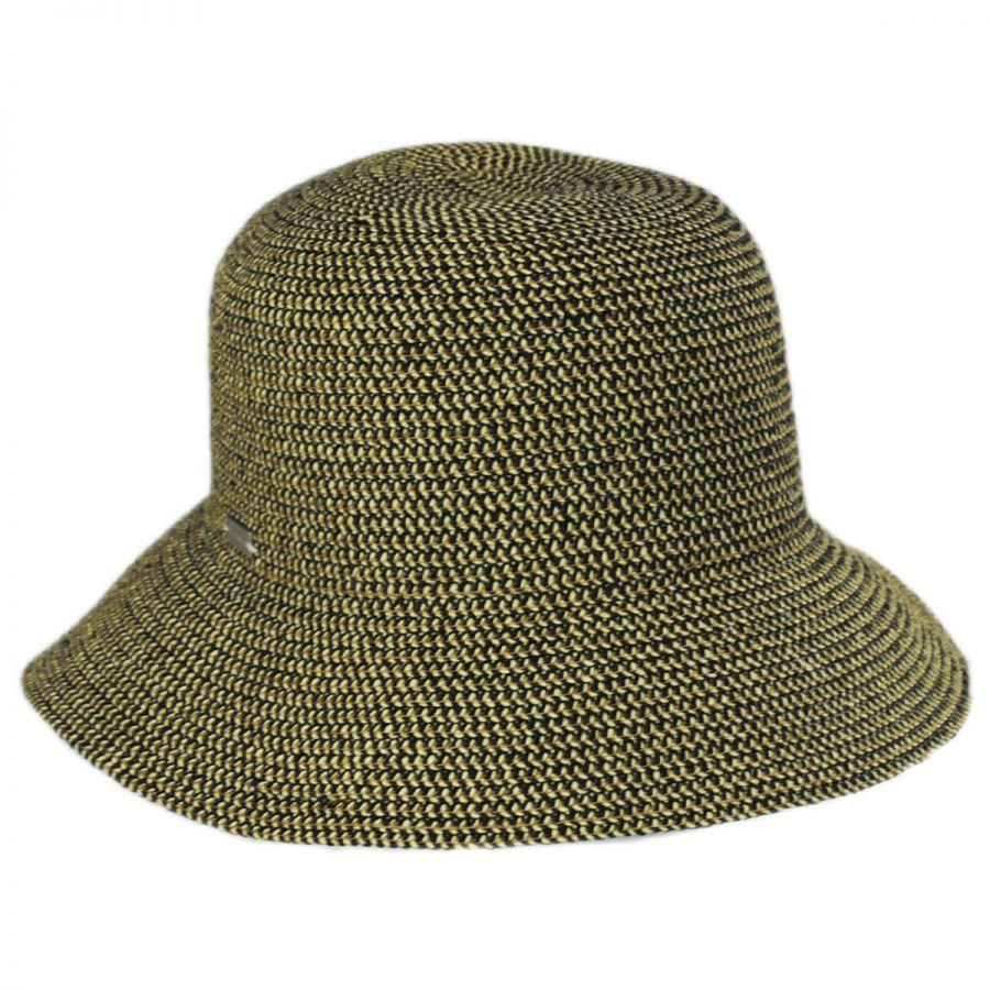 004b77f5bc0a9 Betmar Gossamer Toyo Straw Blend Cloche Hat Cloche   Flapper Hats