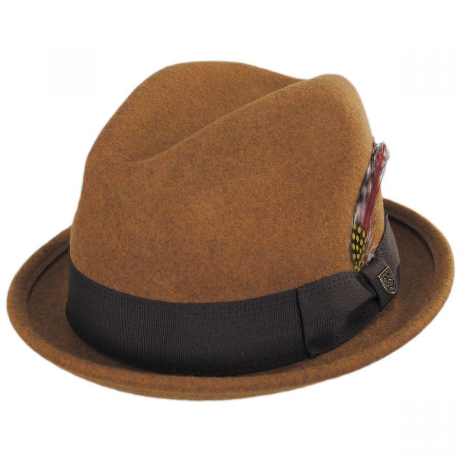 740b0aba15ab7 Brixton Hats Gain Wool Felt Fedora Hat Stingy Brim   Trilby