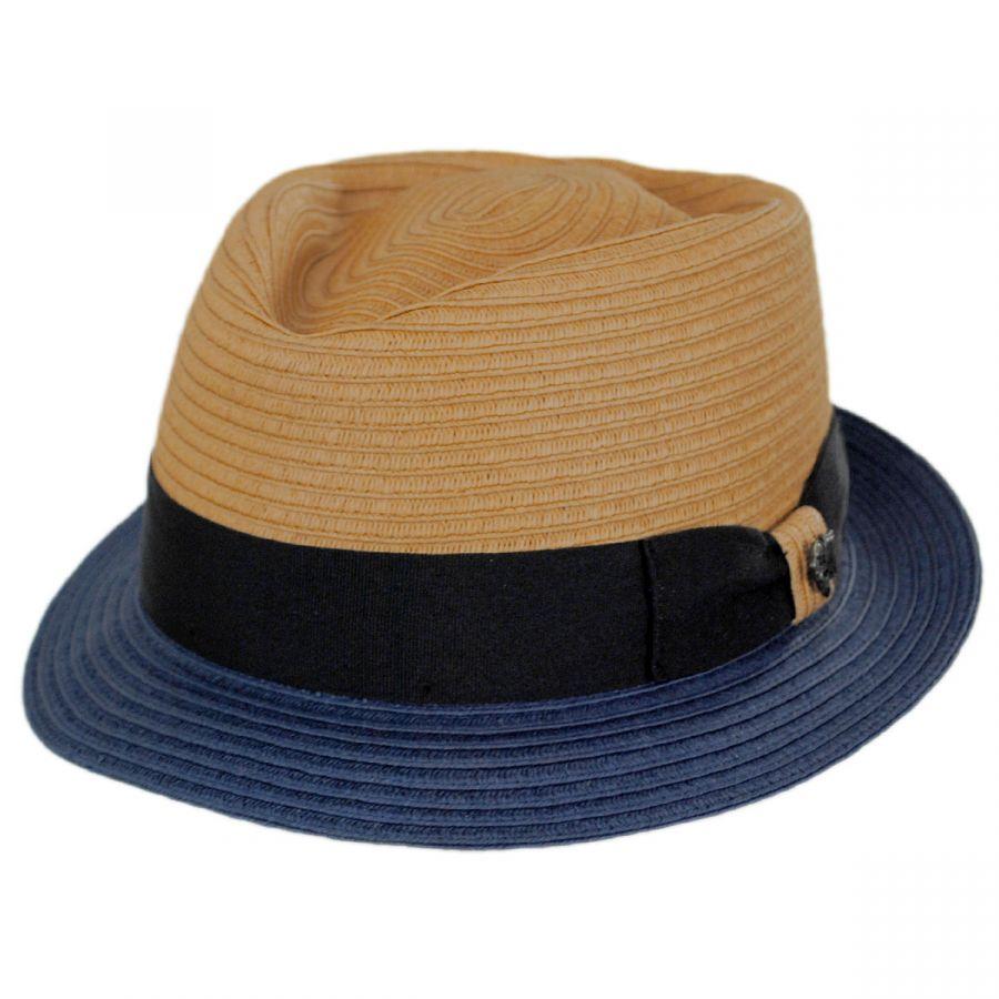 27c2ec31 Bigalli Tribeca Toyo Straw Fedora Hat Straw Fedoras