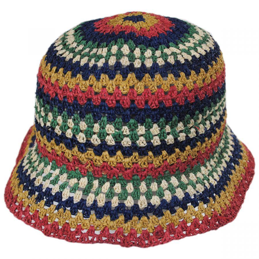 e9979c1a5 Essex Crochet Raffia Straw Bucket Hat