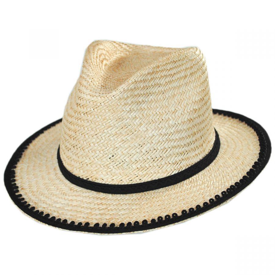 cda0f8ff5 Lera II Palm Straw Fedora Hat