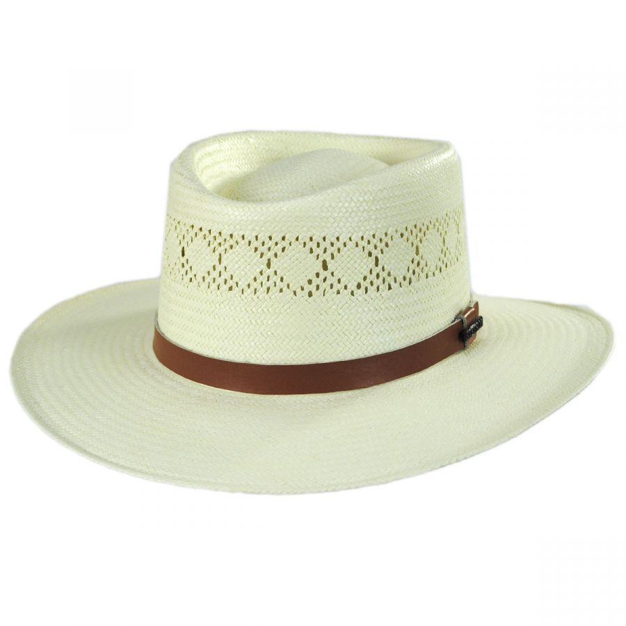 f376efb012e Stetson Brentwood Shantung Straw Gambler Hat Straw Hats