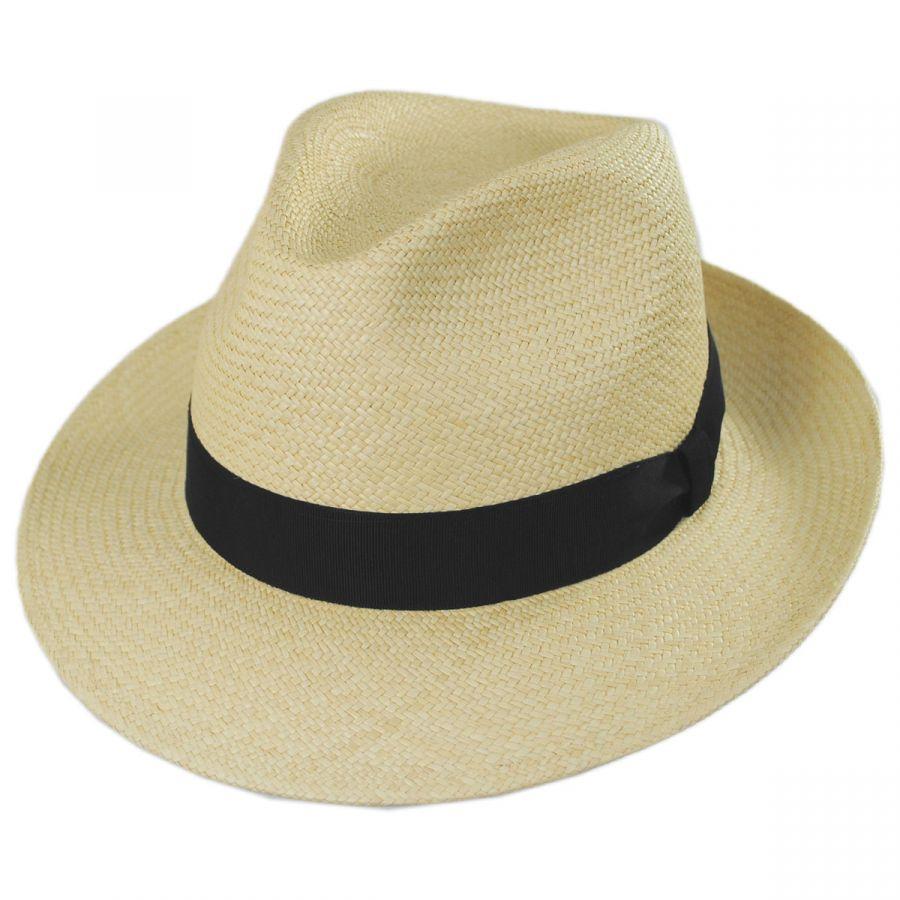 Torino Grade 3 Panama Straw Fedora Hat