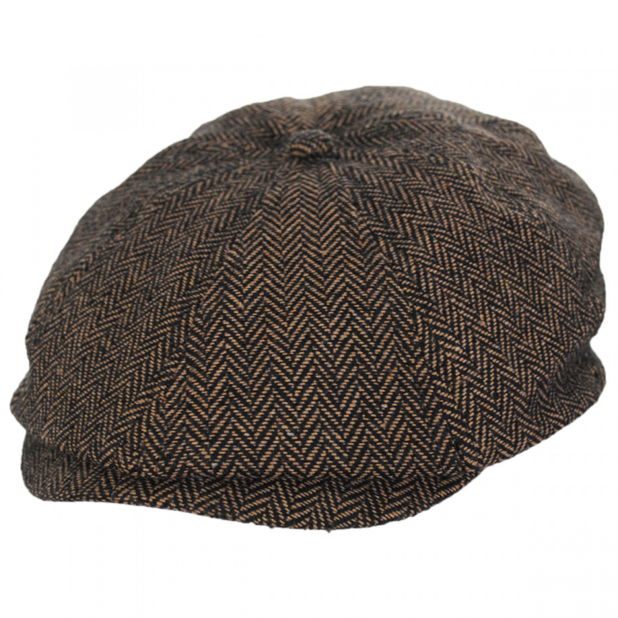 Brixton Hats Brood Herringbone Wool Blend Newsboy Cap - Brown Khaki ... effe4f115cc