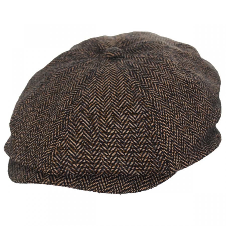 brixton hats brood herringbone wool blend newsboy cap brown khaki newsboy caps. Black Bedroom Furniture Sets. Home Design Ideas