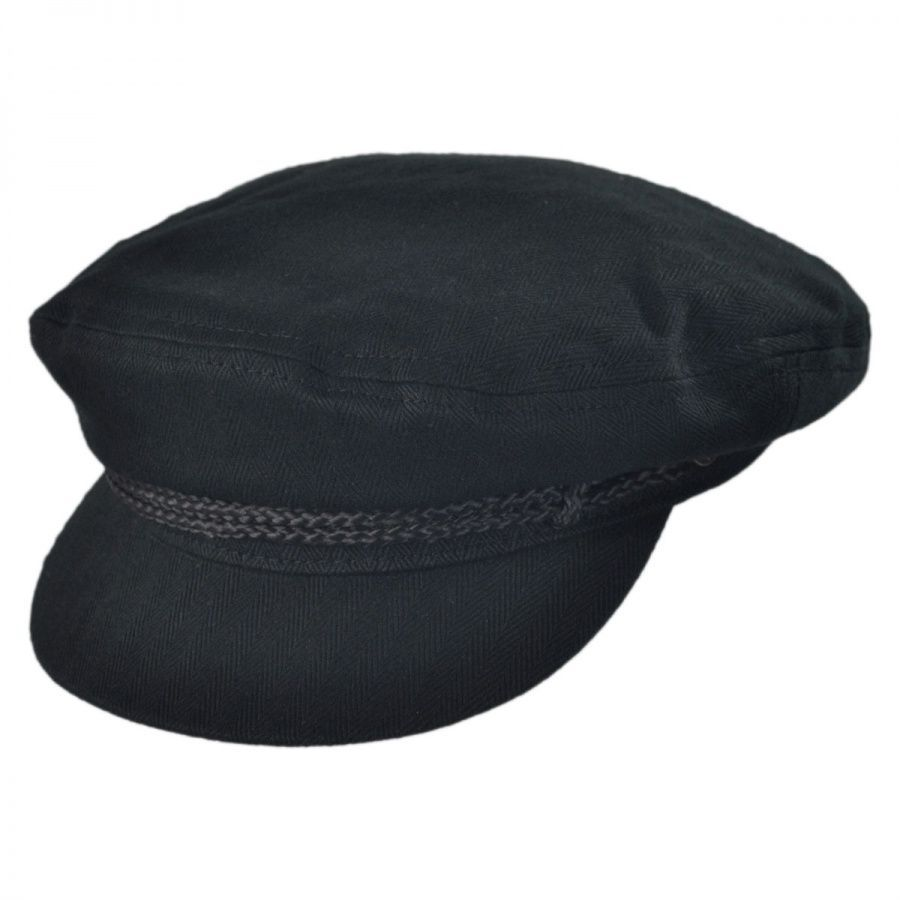 08e6532a2f08c Brixton Hats Herringbone Cotton Fiddler Cap Greek Fisherman Caps