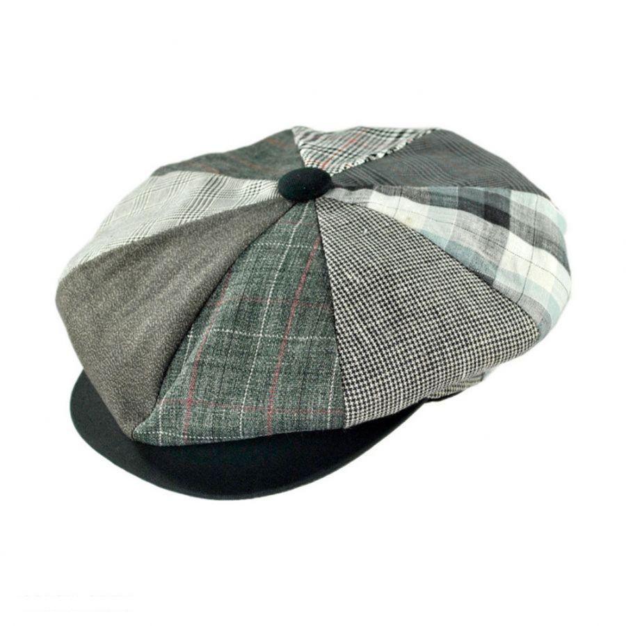 Capas Headwear Patchwork Linen Big Apple Cap Flat Caps 4949c1b3b1b