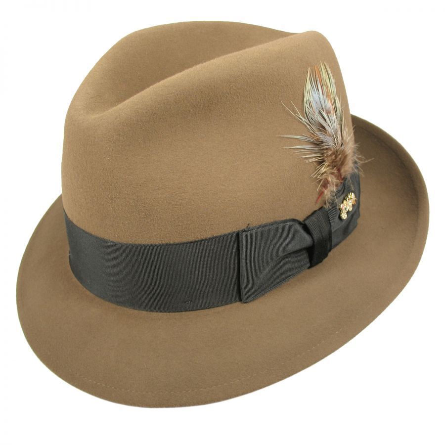 Jet Fur Felt Fedora Hat alternate view 1 d2dbcd5dee5