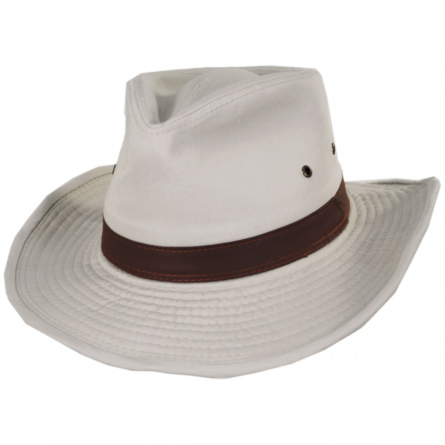 Dorfman Pacific Company Cotton Twill Outback Fedora Hat All Fedoras ff45259cd55