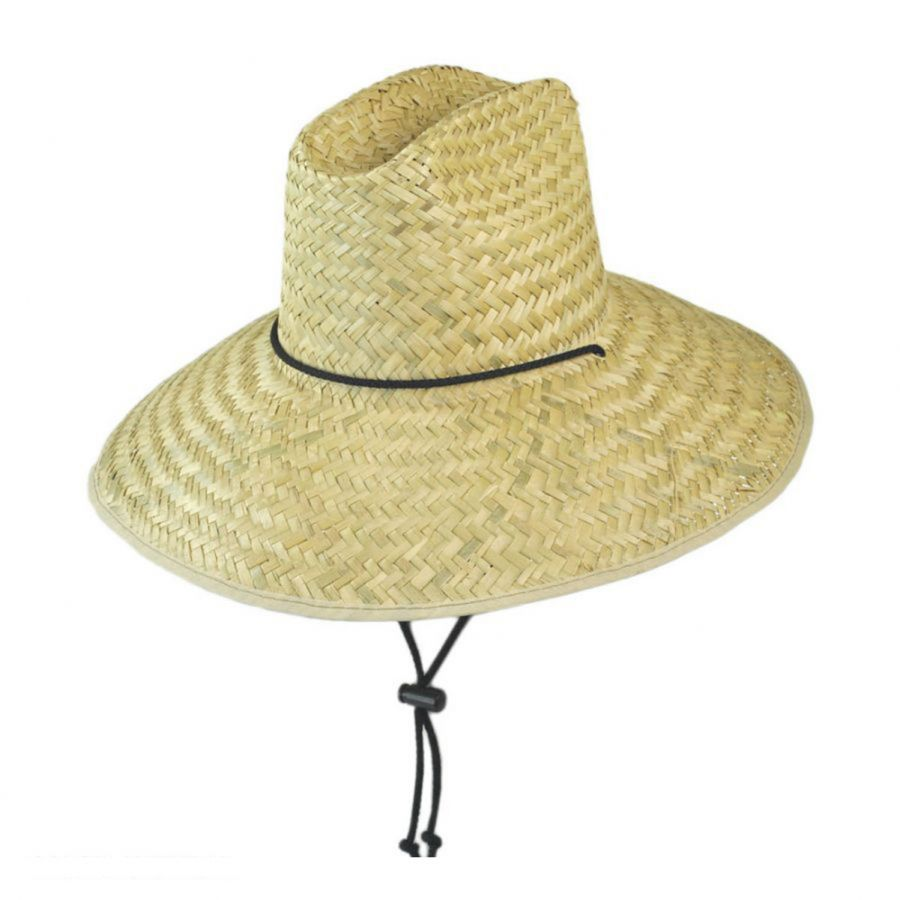Dorfman Pacific Company Palm Leaf Straw Lifeguard Hat Straw Hats 8143e2f7d