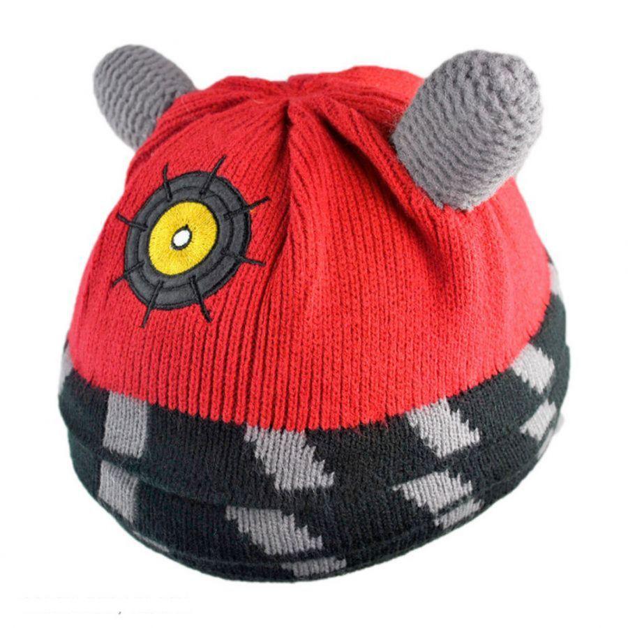 Free Knitting Pattern Dalek Hat : Doctor Who Dr. Who Dalek Knit Acrylic Beanie Hat Beanies