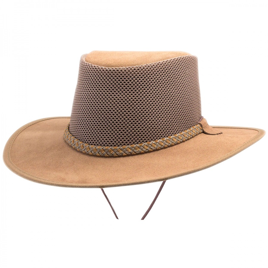 d25dd5d47757cc Head 'N Home Monterey Bay Breeze Suede and Mesh Hat Western Hats