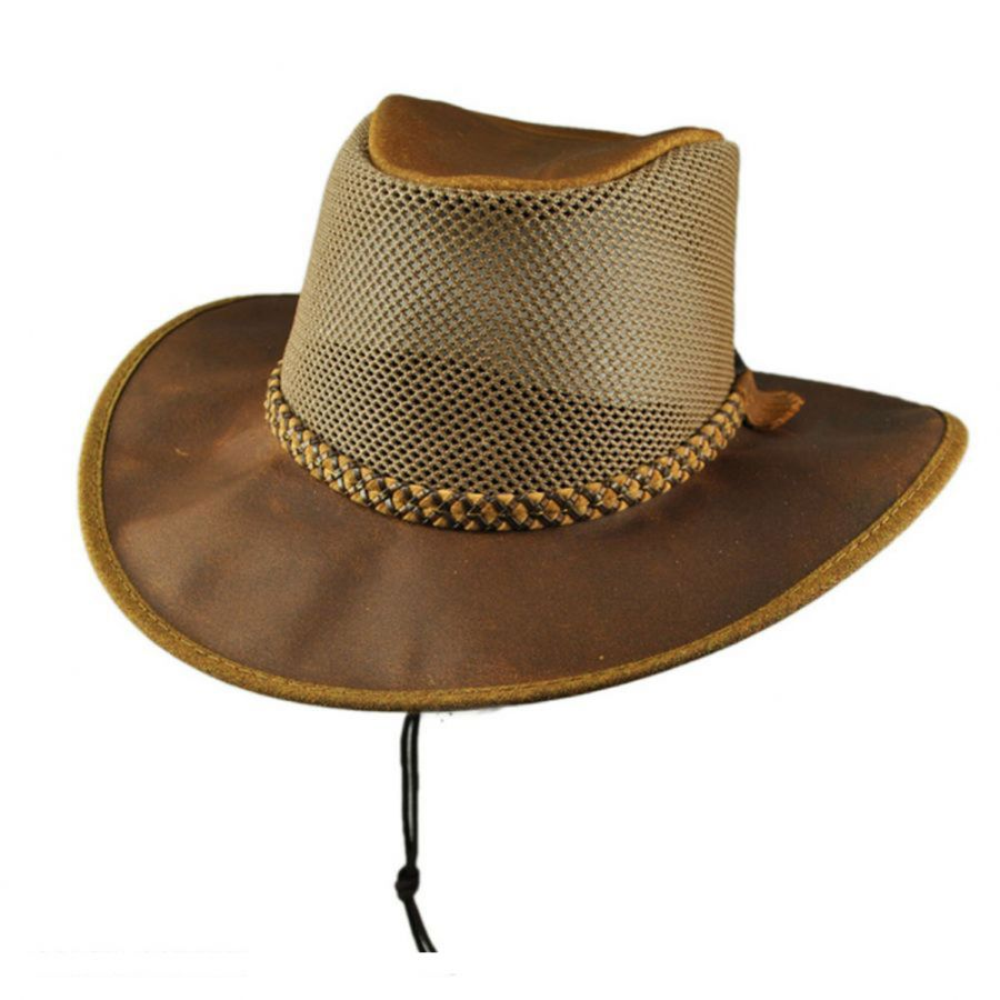 70a362d5d7b Head  N Home Monterey Bay Breeze Leather and Mesh Hat Western Hats