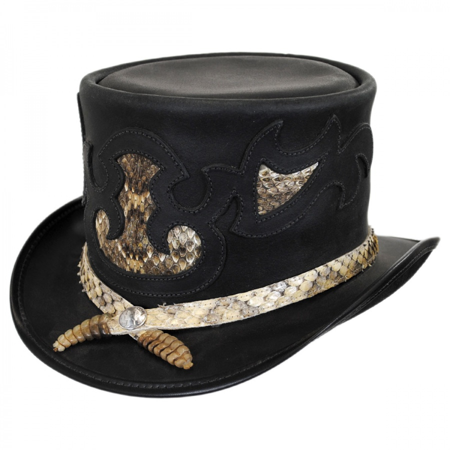 4701394fb49 Head  N Home Rio Leather Topper Hat Top Hats