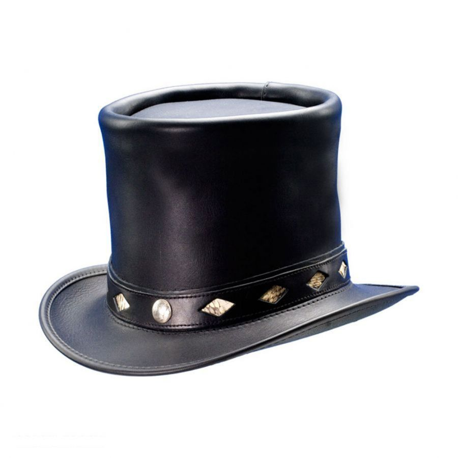 f27c354ce8d Head  N Home Stove Piper Leather Top Hat Top Hats