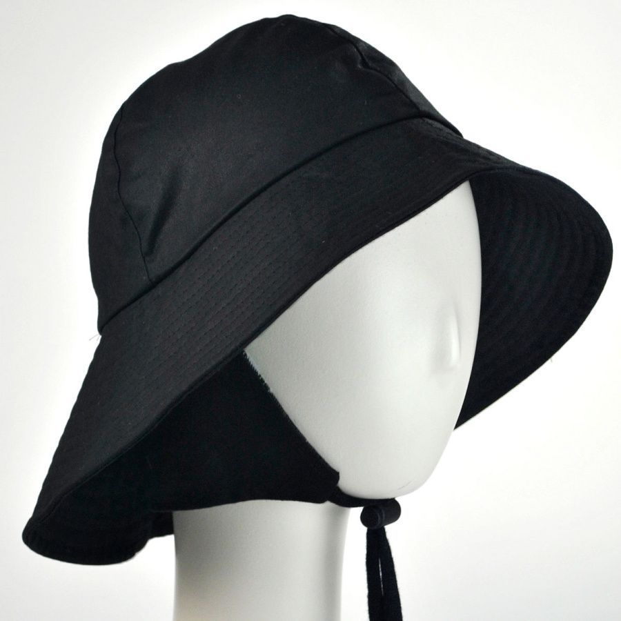 Hills Hats of New Zealand The Sou wester Waxed Cotton Bucket Hat ... 7c27731122