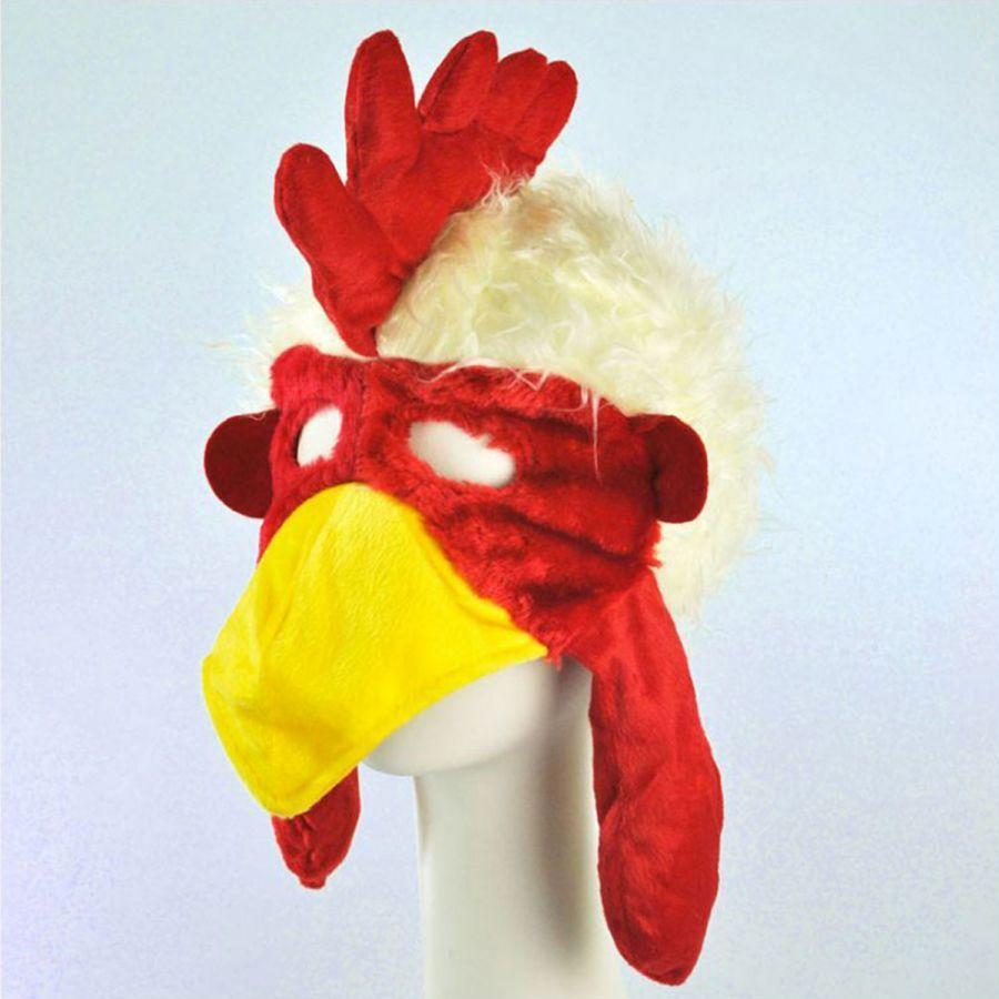 Chicken Face Mask Hat Alternate View 1