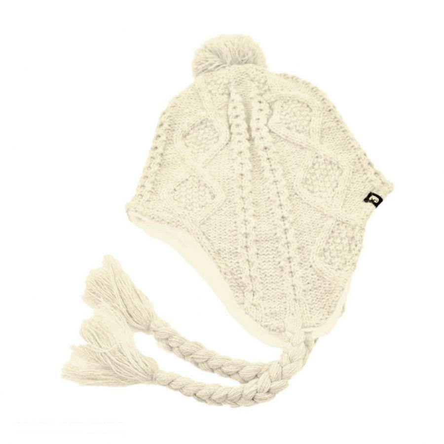 Knitting Pattern Peruvian Hat : Jaxon Hats Cable Knit Acrylic Peruvian Beanie Hat Beanies