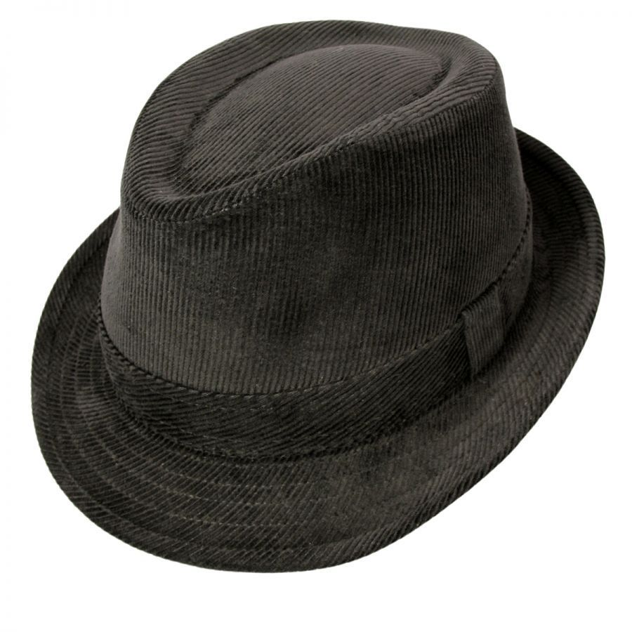 75204922d3e Jaxon Hats Corduroy C-Crown Trilby Fedora Hat All Fedoras