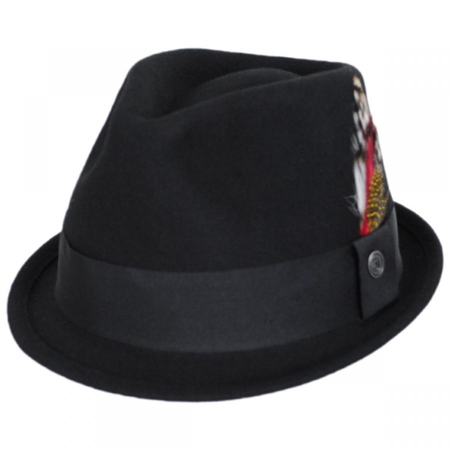 Jaxon Hats Dekker Crushable Wool Felt Trilby Fedora Hat Crushable 162b8eb80bc8