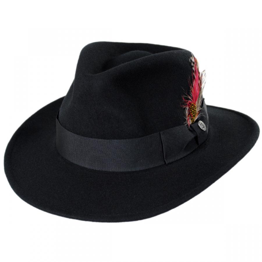 ec65ebcedff Jaxon Hats Ford Crushable Wool Felt Fedora Hat All Fedoras