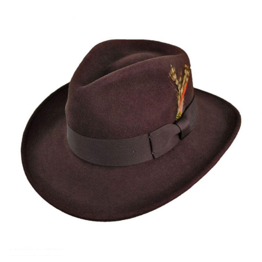 Jaxon Hats Ford Crushable Wool Felt Fedora Hat All Fedoras 547e39fe778