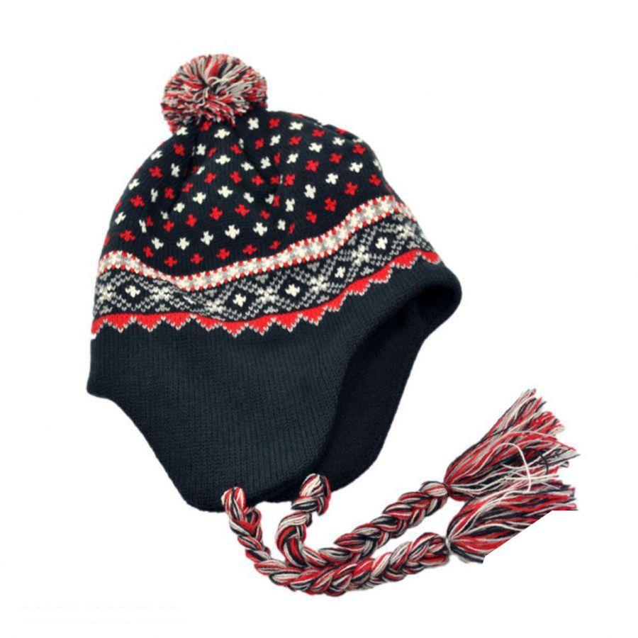 Jaxon Hats El Toro Knit Peruvian Beanie Hat Beanies 78ce2e3d46c