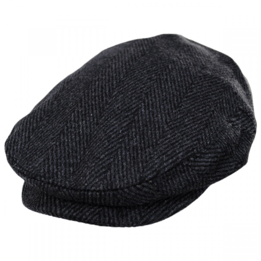 Jaxon Hats Large Herringbone Wool Blend Ivy Cap Ivy Caps