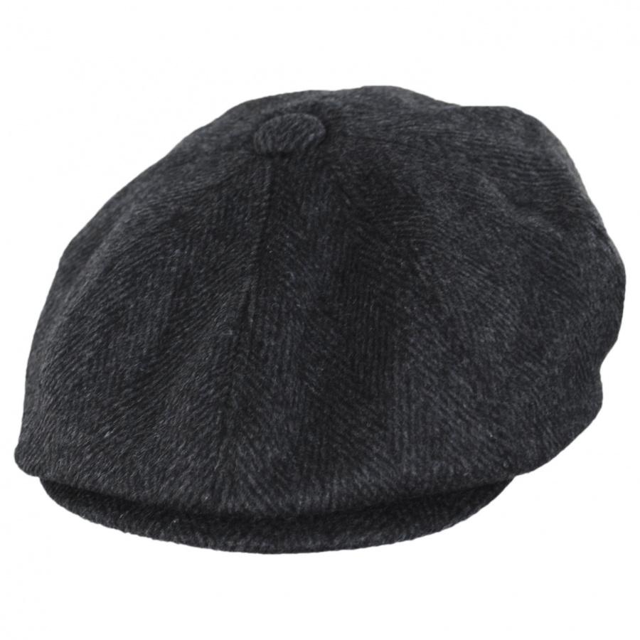 Jaxon Hats Large Herringbone Wool Blend Newsboy Cap ...