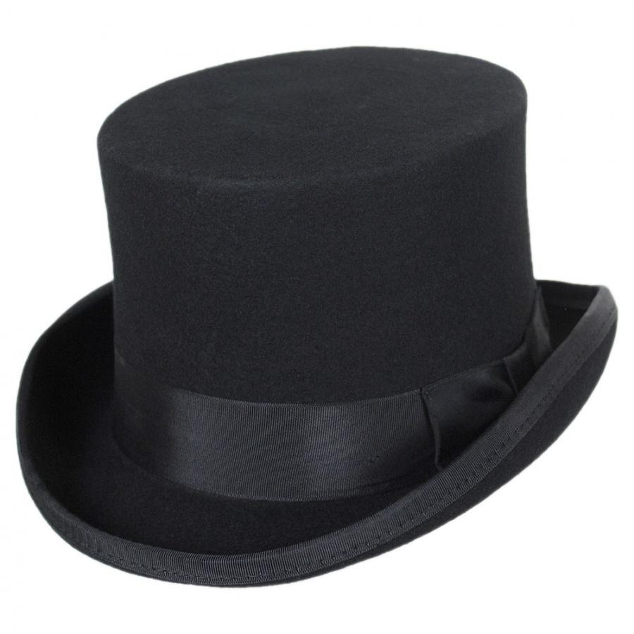 Jaxon Hats Mid Crown Wool Felt Top Hat Top Hats