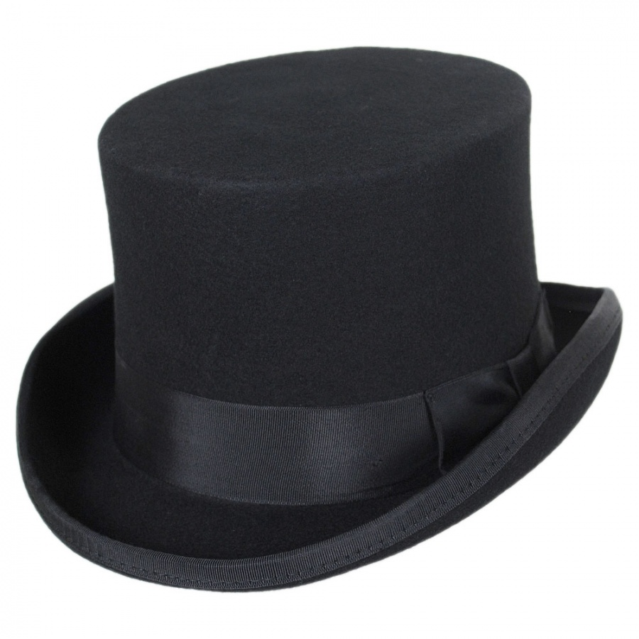 Jaxon Hats Mid Crown Wool Felt Top Hat Top Hats b3a3c90ee1a