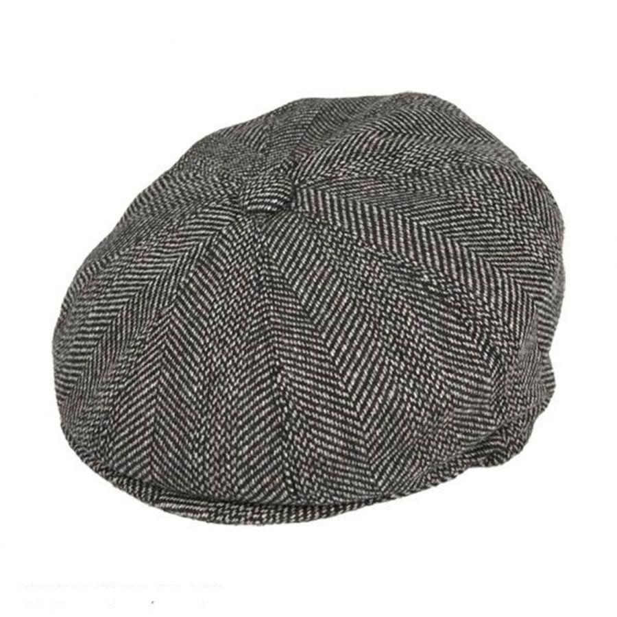 3516f886 Mix Herringbone Wool Blend Newsboy Cap alternate view 5. Jaxon Hats