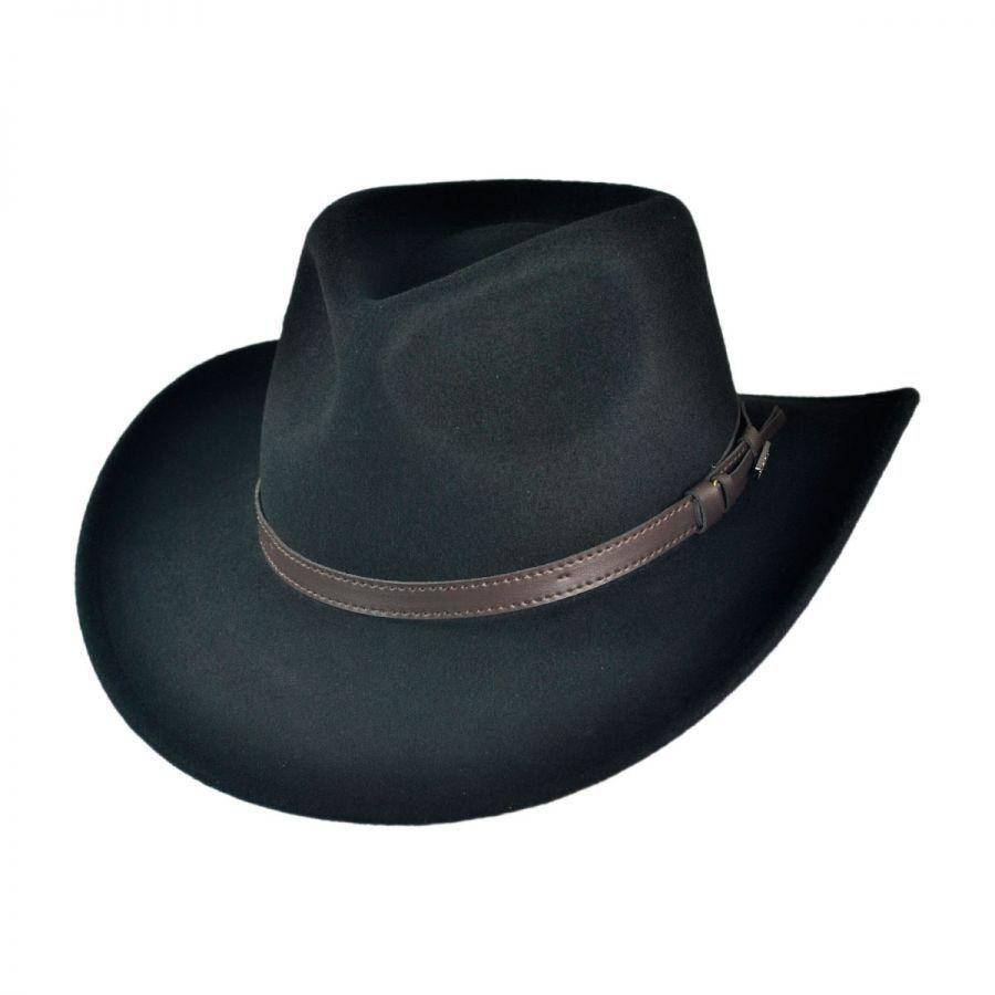 ee0dd81854 Jaxon Hats Crushable Wool Felt Outback Hat Crushable