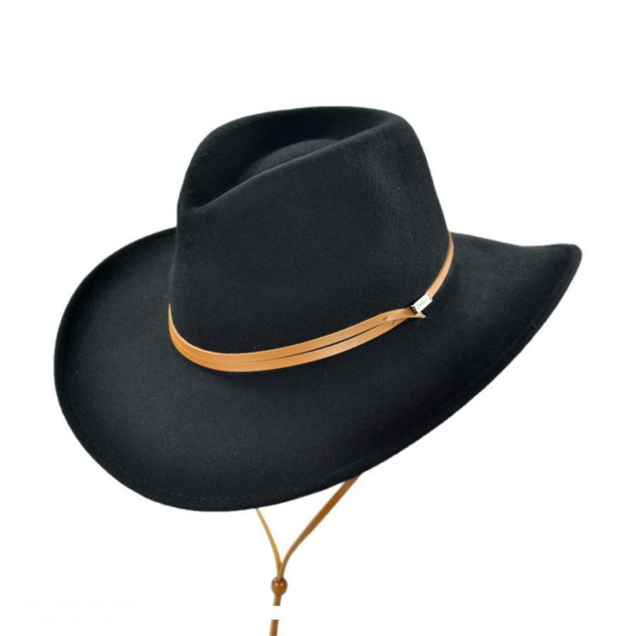Jaxon Hats Crushable Wool Felt Chincord Outback Hat Western Hats 9603eae814a