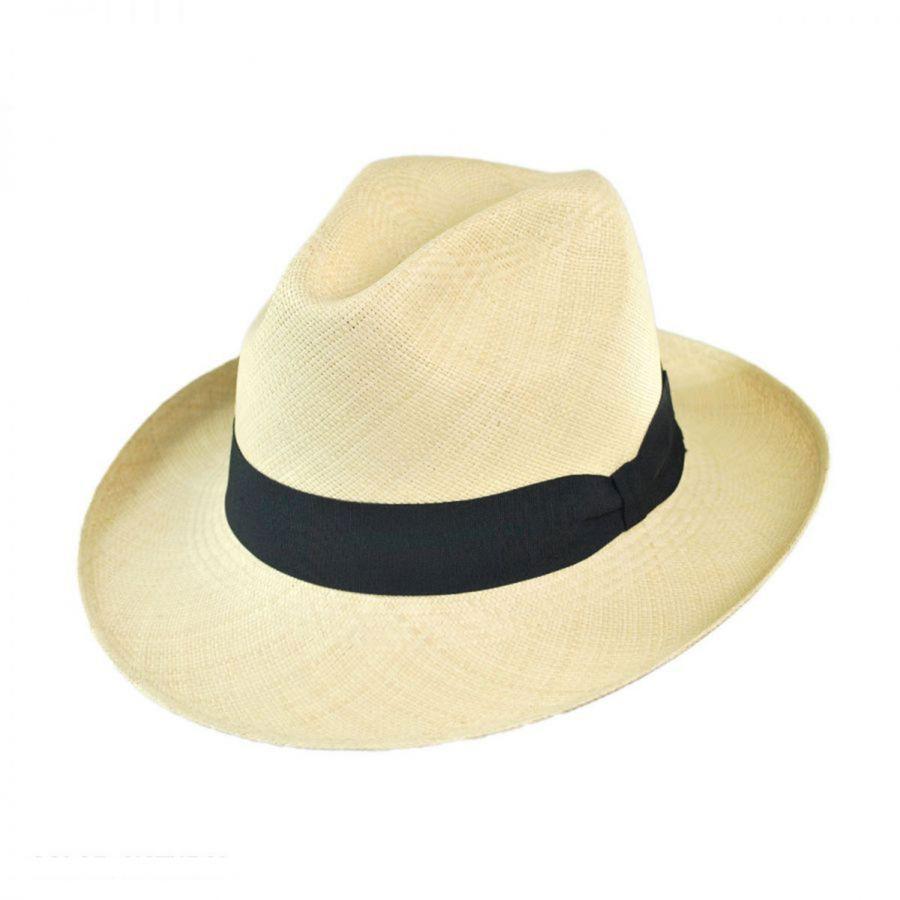 Jaxon Hats Brisa Grade 8 Panama Straw Fedora Hat All Fedoras ab254765cd2f