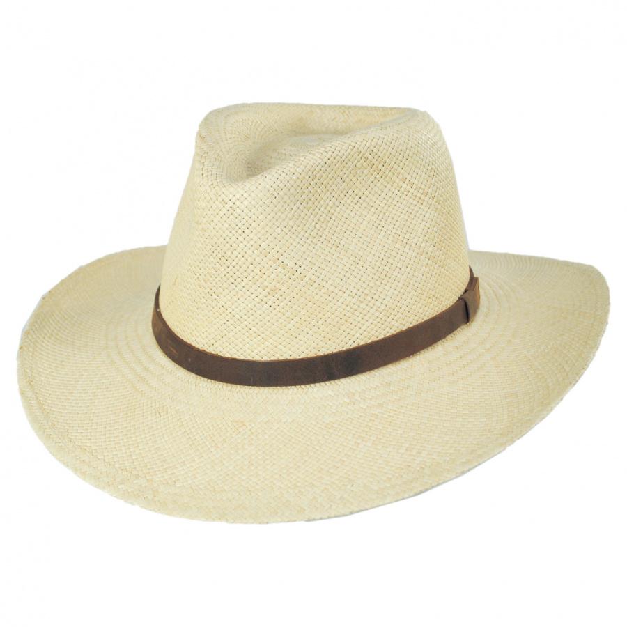 Jaxon Hats MJ Panama Straw Outback Hat Straw Hats 939eb0773d9