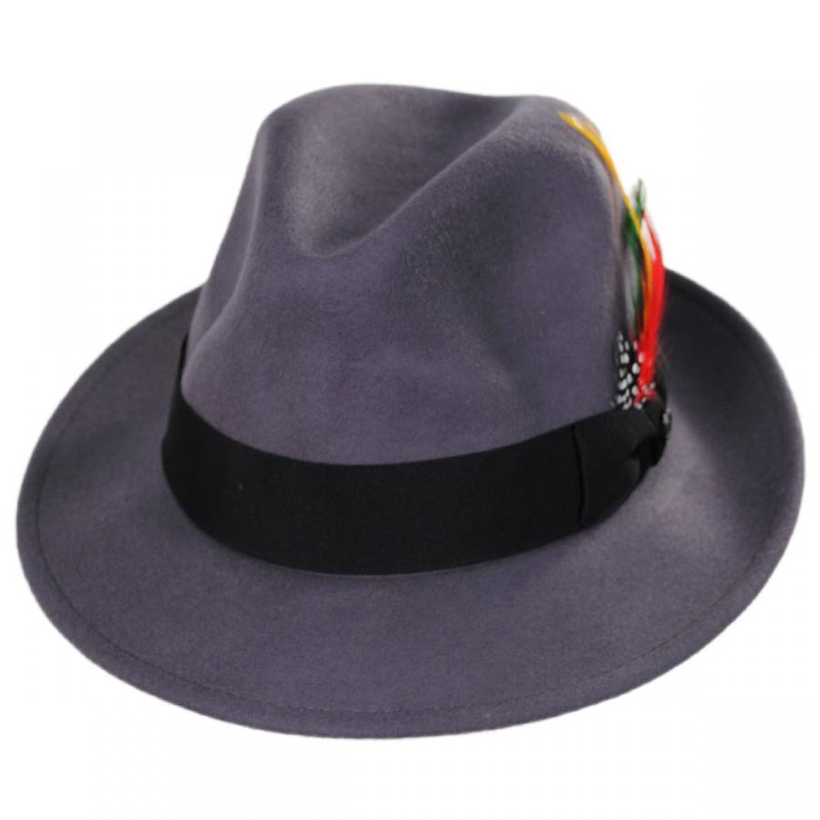 fe65cc836 Pinch Crown Crushable Wool Felt Fedora Hat