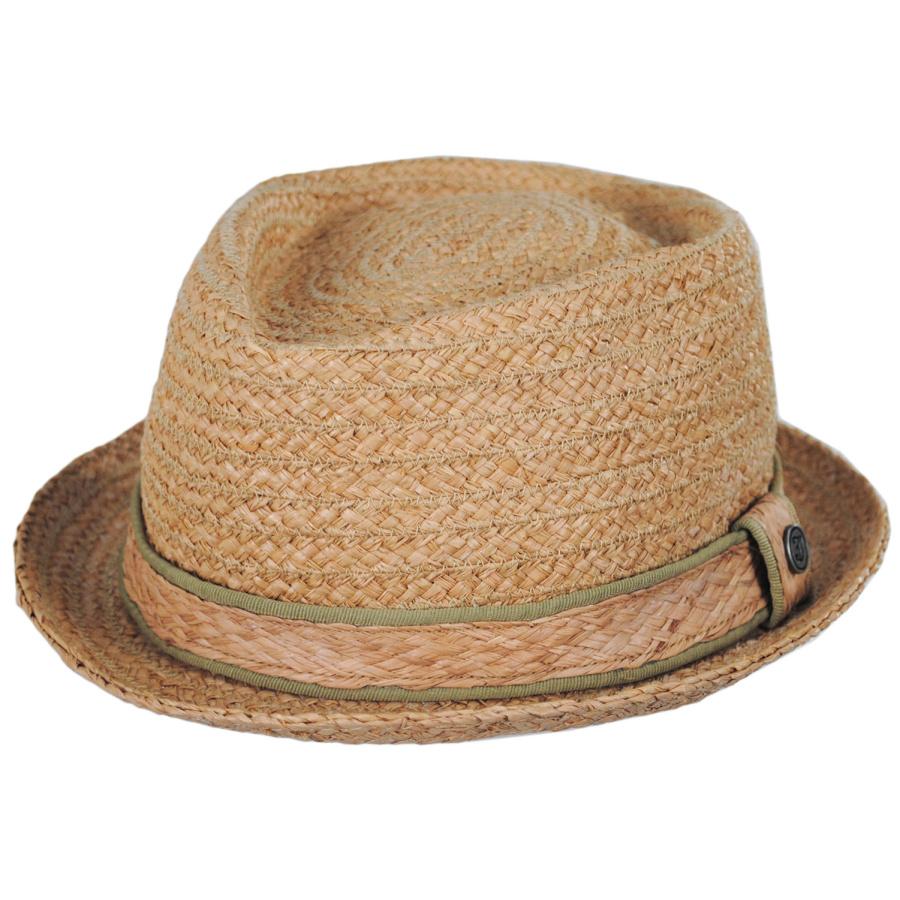 Jaxon Hats Raffia Straw Diamond Crown Fedora Hat Pork Pie Hats 99ffe2ea7
