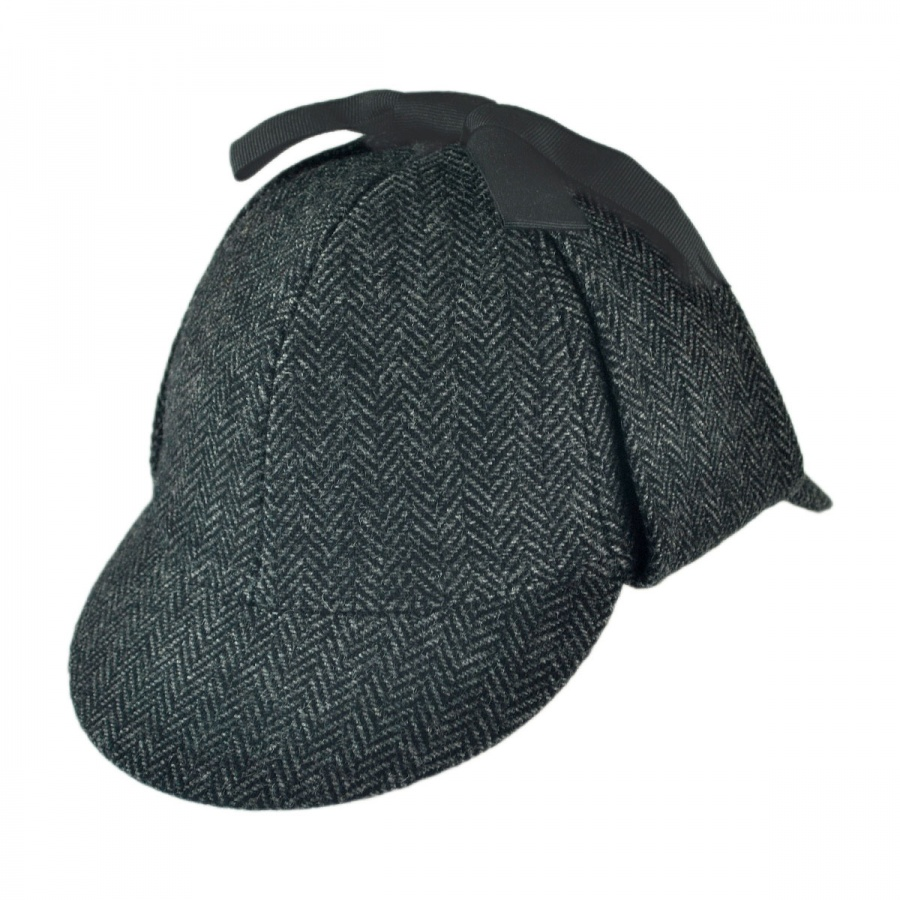 268d265aada Jaxon Hats Sherlock Holmes Herringbone Wool Blend Hat Novelty. Zoom More  Images. Mens Dark Seal Gray ...