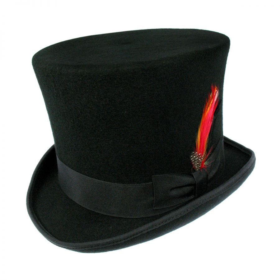 86ff2280e49c2b Jaxon Hats Victorian Wool Felt Top Hat Top Hats