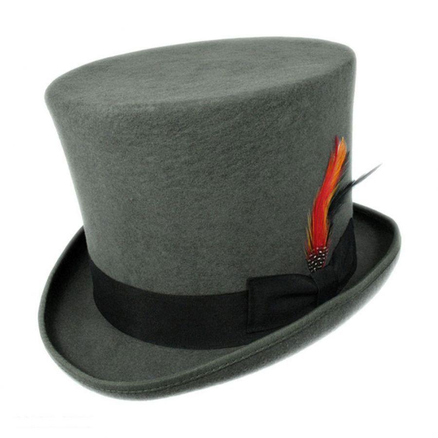 Jaxon Hats Victorian Wool Felt Top Hat Top Hats 0b61b37ab8a