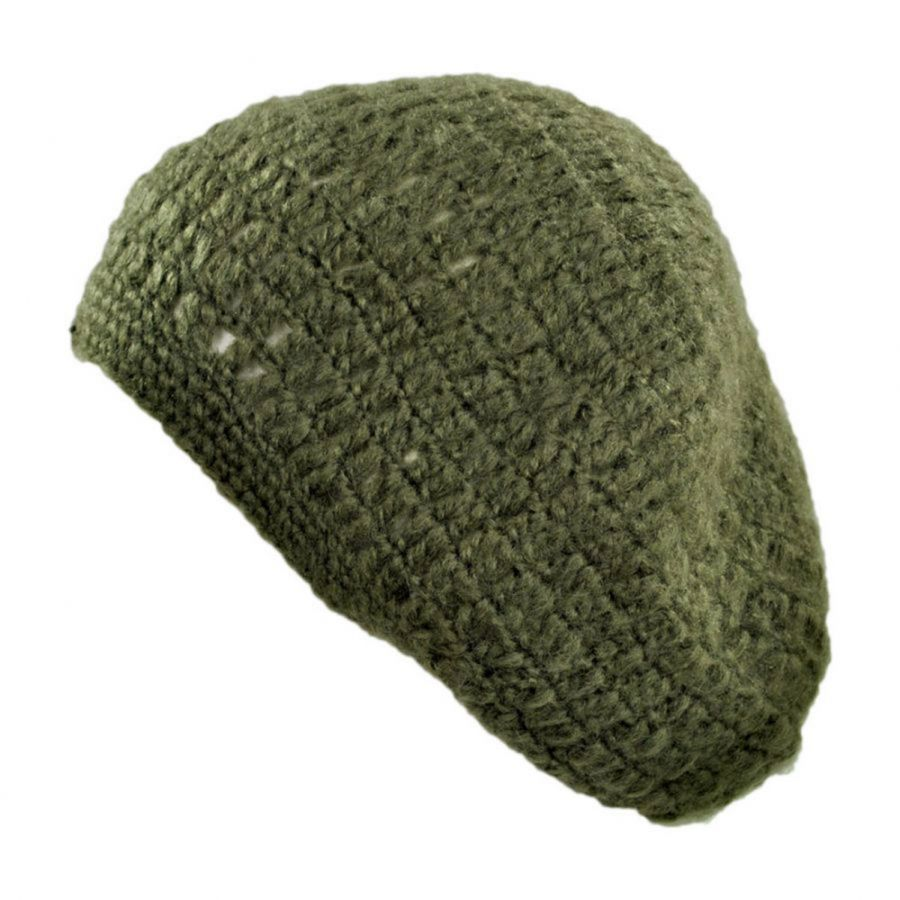 Free Knitting Pattern Mohair Beret : Jeanne Simmons Mohair Knit Beret Berets
