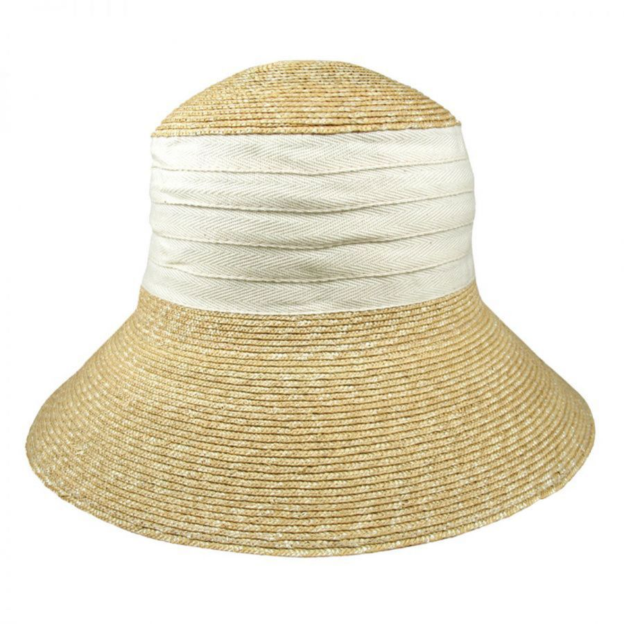 Packable Wheat Straw Sun Hat alternate view 2. Jeanne Simmons 17dbf3d2956