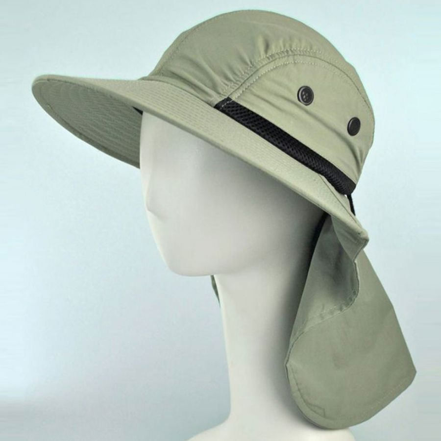 Juniper UV Protection Large Bill Flap Cap Sun Protection be2752747