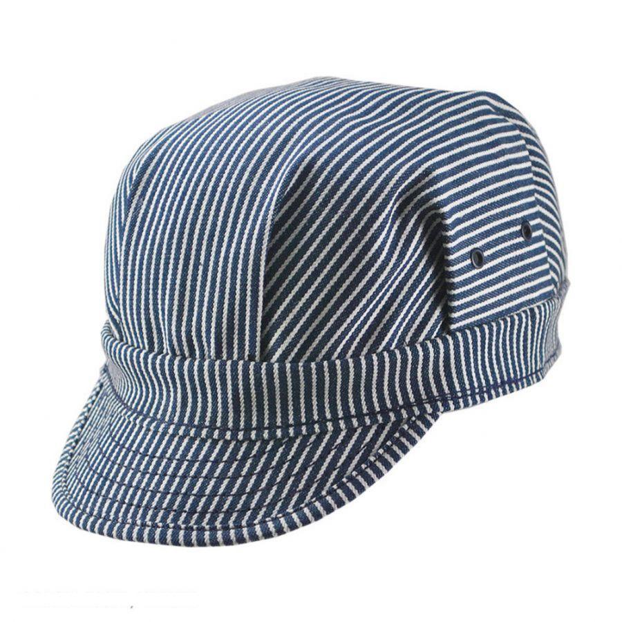 New York Hat Company Striped Cotton Engineer Cap. Enlarge Image. Striped  Cotton Engineer Cap alternate view 1 a7a8e9fa6907