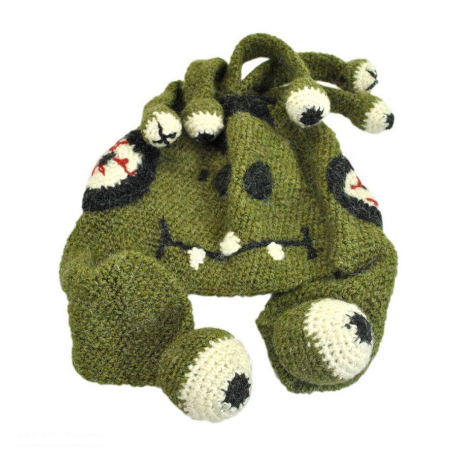Crochet Pattern Novelty Hats : Peruvian Trading Company Eyes Crochet Knit Beanie Hat Beanies
