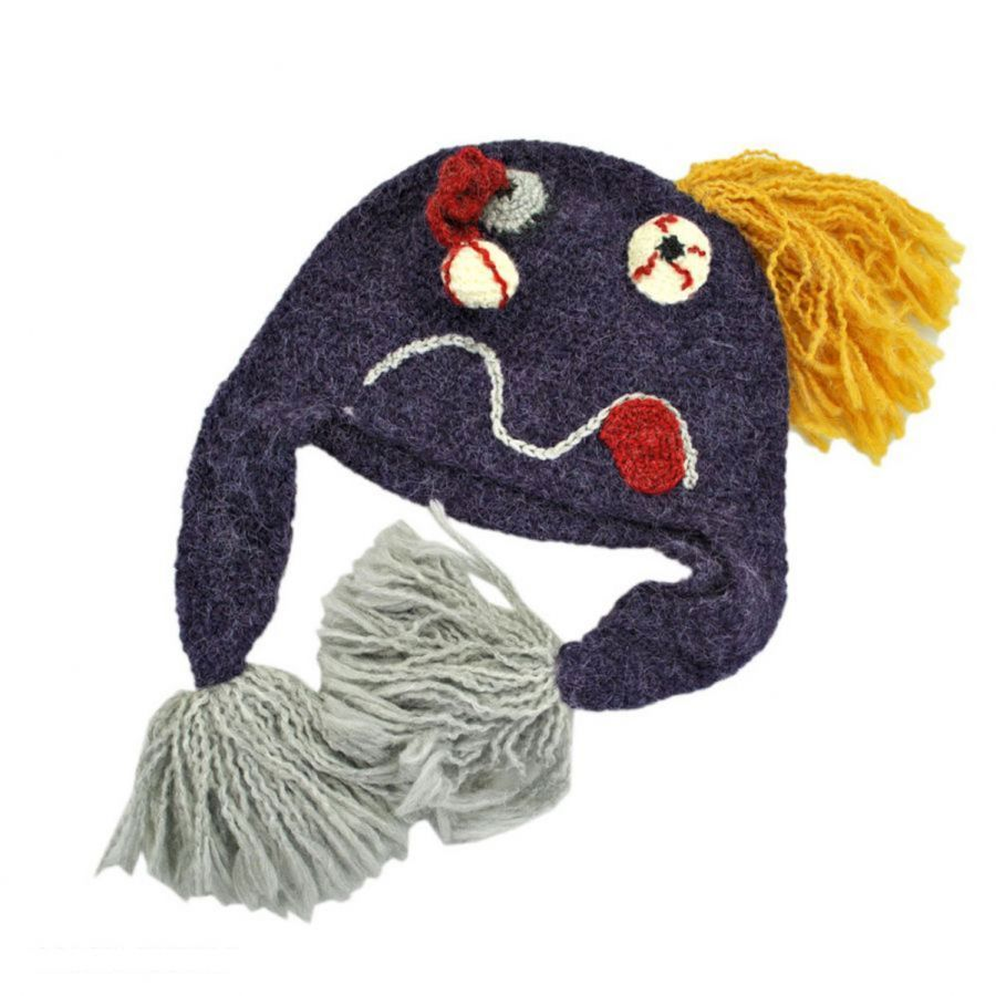 Crochet Pattern Novelty Hats : Peruvian Trading Company Mutant Crochet Knit Beanie Hat ...