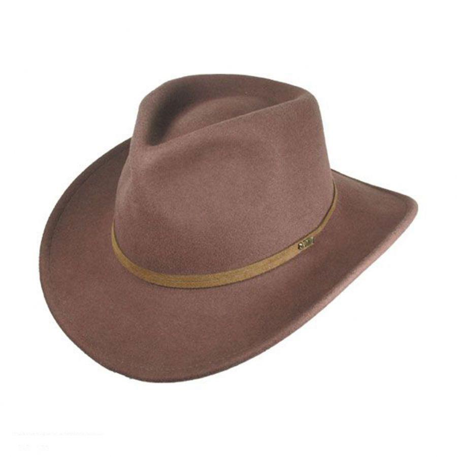 b9b4798ef Crushable Wool Felt Earflap Outback